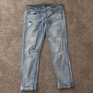 American Eagle Skinny Ripped Jeans EUC